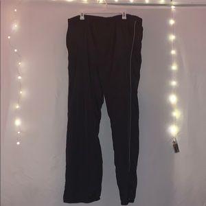 Black track pants